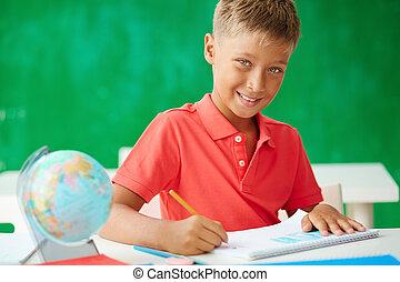 Schoolboy drawing