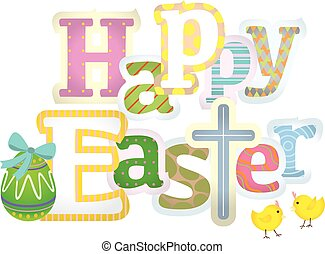 Happy Easter typographic design