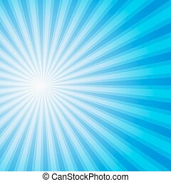 Blue color burst background Vector illustration - Blue color...