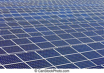 solar panels - detail of a photovoltaic panels for...
