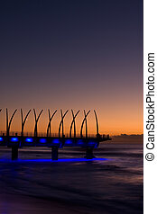 Sunrise Pier - Umhlanga Pier at sunrise with lights on