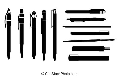 ballpoint pen vector illustration