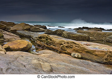 The Rock - Rocky shore and beach of Umhlanga near Durban