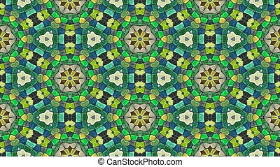 Kaleidoscopic seamless loop video - Kaleidoscopic generated...