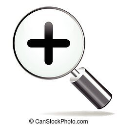 zoom plus icon - illustration of magnifying zoom plus icon...