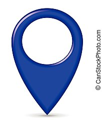 blue gps pointer - illustration of blue gps pointer design...