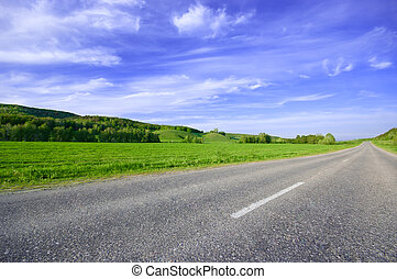 Spring sunny day landscape - Spring or summer sunny day...