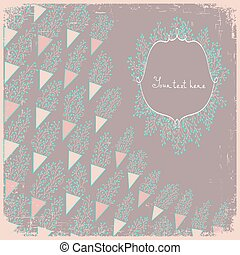 Wedding card or invitation with sma