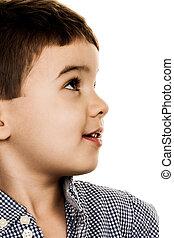 portrait of a little boy, a symbol of childhood,...