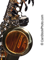 Saxophone Isolated on White - An alto saxophone isolated...