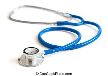 Blue stethoscope isolated