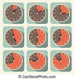 Clock - Time Countdown Vector Set