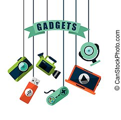 gadgets tech design, vector illustration eps10 graphic