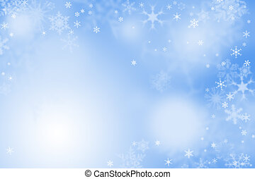 Light blue winter wallpaper with snow