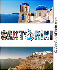 santorini letterbox ratio 10 - A collage of various images...