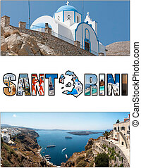 santorini letterbox ratio 05 - A collage of various images...