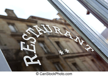 Restaurant - Facade of and old French bistro