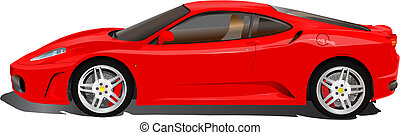 Italian sport car illustration - Red Ferrari sport car....