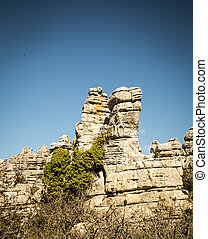 el torcal - The unique rock formations at the park in el...