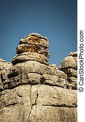 el torcal - The unique rock formations at the park in el...