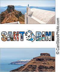 santorini letterbox ratio 13 - A collage of various images...