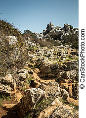 el torcal spain - The unique rock formations at the park in...
