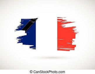 france ink flag illustration design