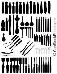chisels and grips - shadow of many types chisels and grips