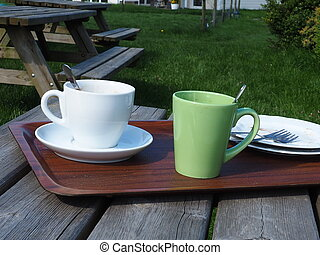 coffeetime in the garden - coffee and teatime in the garden...