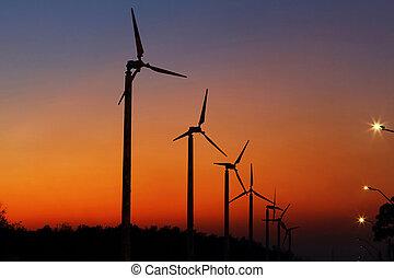 viento, turbines, ,