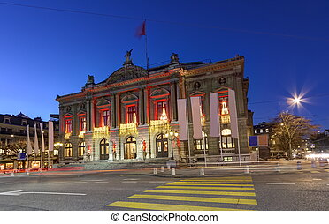 Grand Theatre or Big Theater, Geneva, Switzerland - Grand...