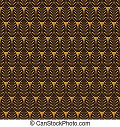 Vector illustration of leaves. - Seamless pattern with many...
