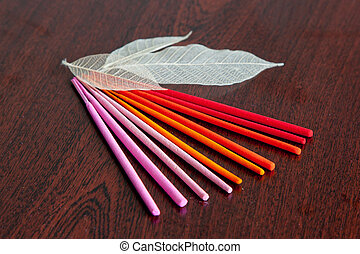 Colored aroma sticks