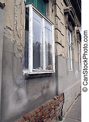 Kibic window - Old traditional window in the village of...