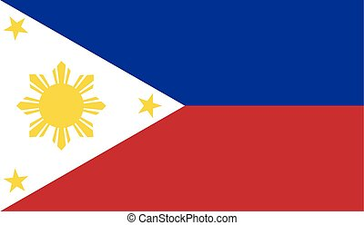 Flag of Philippines - Philippines flag vector illustration....