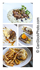 Gastronomy - Collage of gastronomic dishes