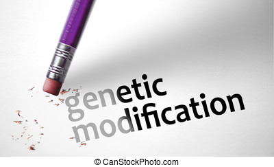 Eraser deleting the concept genetic modification