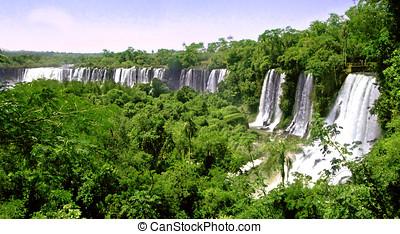 Brasil,  Argentina, cachoeiras,  iguazu