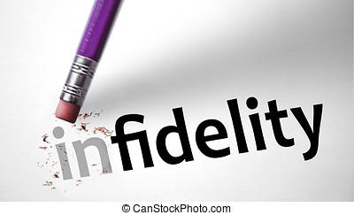 borrador, Cambiar, el, palabra, infidelidad, para,...