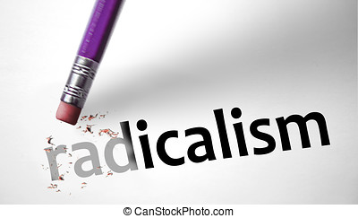 Eraser deleting the word Radicalism