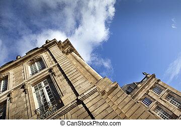 Bordeaux - Touristic place Place de la Bourse in Bordeaux,...