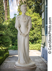 Statue of Sisi, Elisabeth of Bavaria, in Corfu, Greece