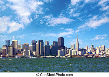 San Francisco Skyline - San Francisco skyline, California,...