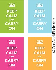 keep calm poster set