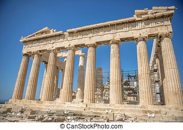 Parthenon, sur, les, Acropole, dans, Athènes, Greece,...