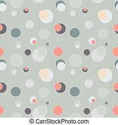 Seamless pattern with circles and lines - vector...