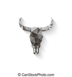 bull skull triangle - vector illustration eps 10