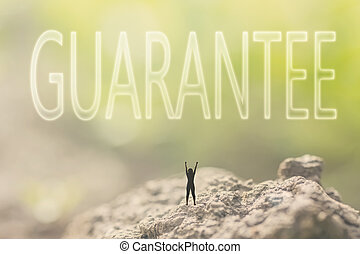 concept of guarantee - Concept of guarantee with a person...