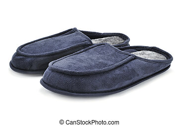 warm slippers - a pair of warm slippers on a white...