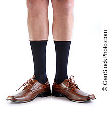 Legs from a man with open feet. - Legs from a businessman...